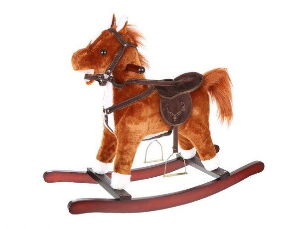 Hojdací kôň - 74 cm - hnedý | K4589