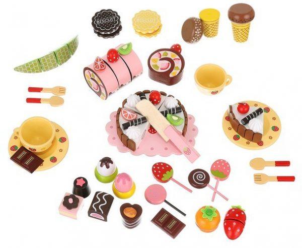 Sada drevených detských sladkostí